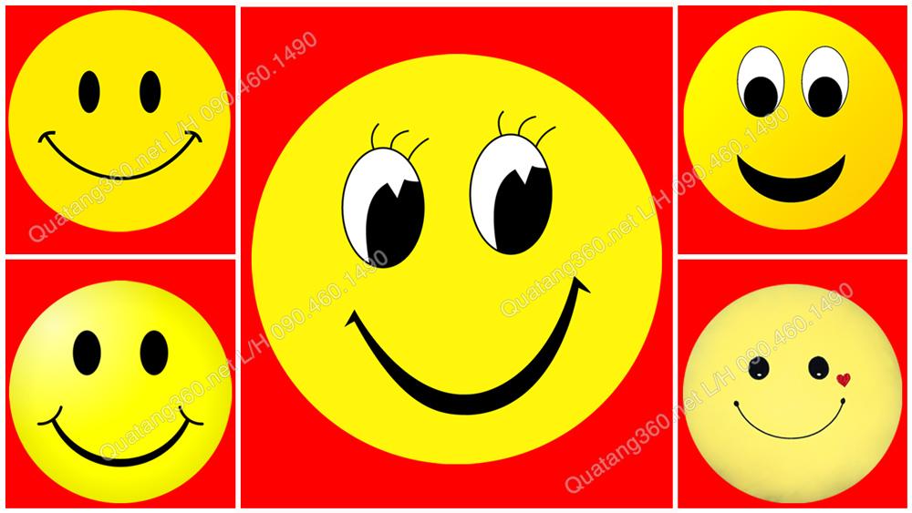 5 mẫu huy hiệu mặt cười