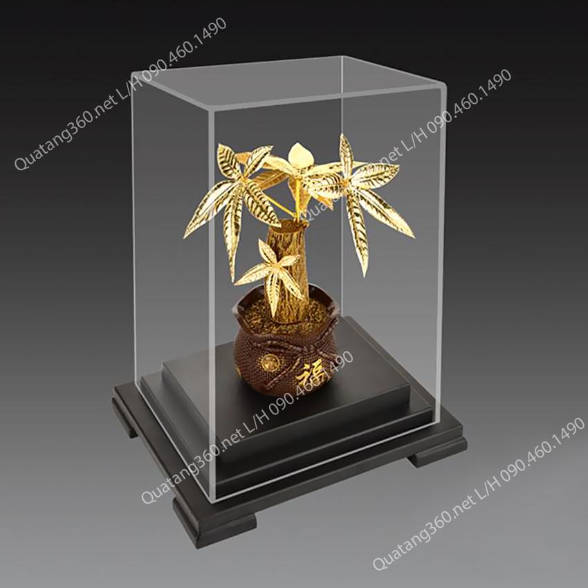 Cây kim ngân phong thủy mạ vàng - Quà tặng giám đốc