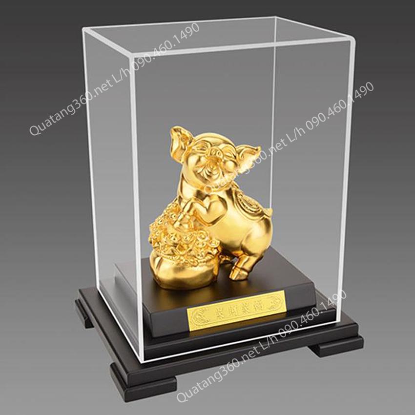 quà tặng chú lợn mạ vàng
