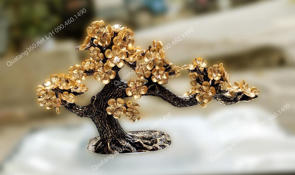hoa mai mạ vàng - quà tặng doanh nghiệp